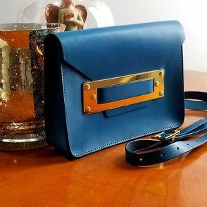 Sophie Hulme *Milner *crossbody in gorgeous blue